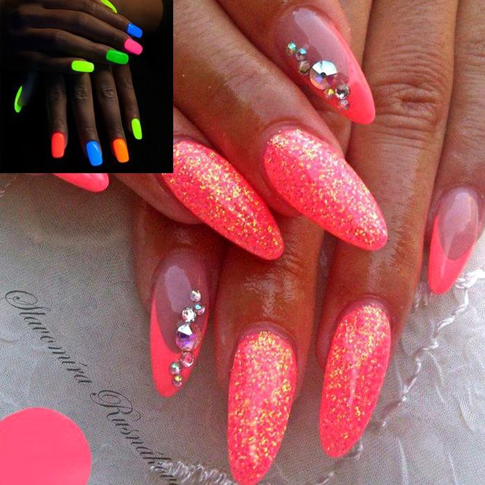 Ногти красный и розовый