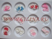 Силиконовые цветы для дизайна ногтей L-073