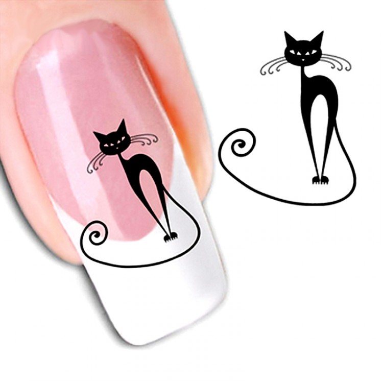 Рисунки для ногтей кошечки
