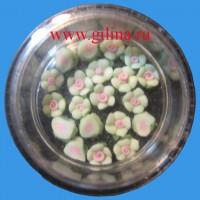 Акриловые цветы салатовые